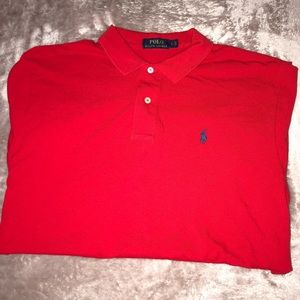 Red Polo Ralph Lauren Short Sleeve
